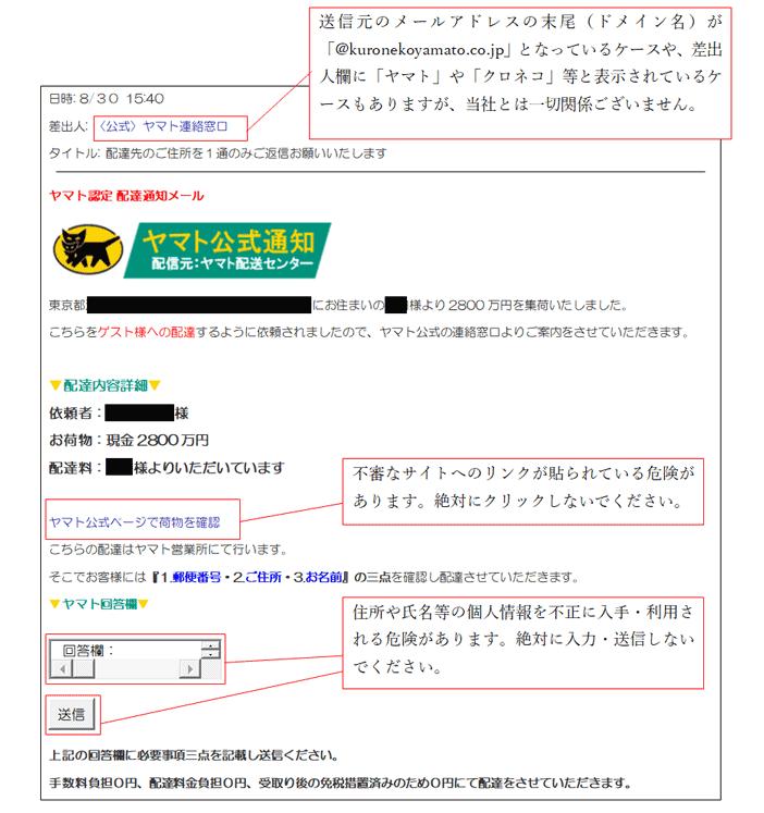 Eメールの文面例[2]